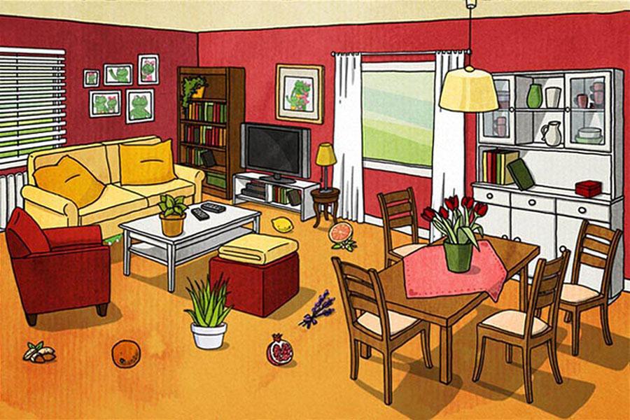 Froschhaus Wohnzimmer